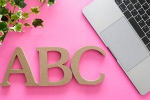 ABCの文字写真