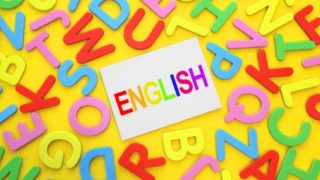 ENGLISHの文字写真