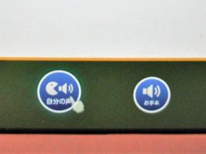 録音再生ボタンの写真