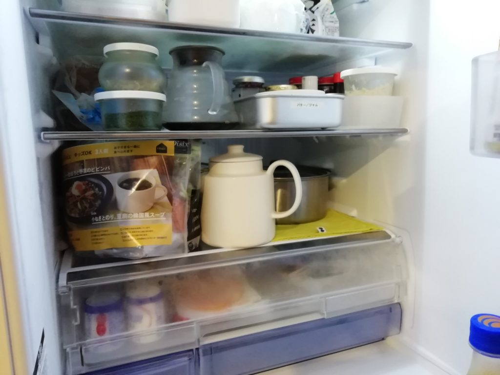 オイシックスのミールキットは冷蔵庫の場所をとる