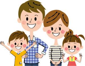 笑顔の家族イラスト