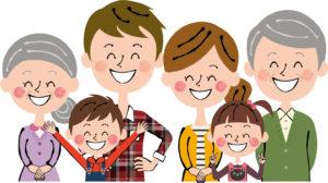 6人家族のイラスト